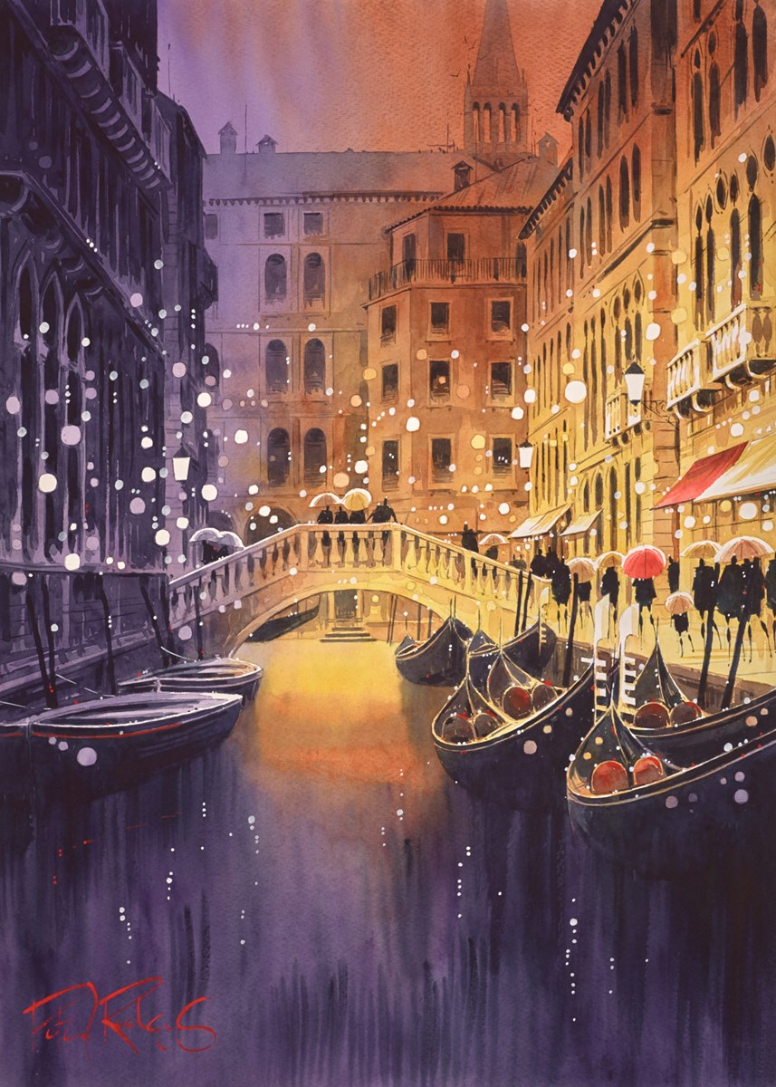 Venice Lights by peter j rodgers -  sized 20x28 inches. Available from Whitewall Galleries